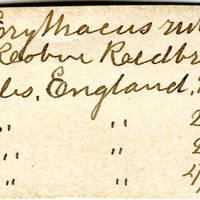Clinton Mellen Jones, egg card # 704