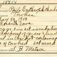 Samuel B. Matson, egg card # 092u