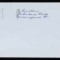 1946-02-14 Evelyn Burton to Carroll Steinbeck - Envelope back