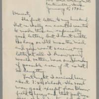 1942-01-05 Laura Davis to Lloyd Davis Page 1