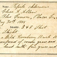 Charles A. Allen, egg card # 007