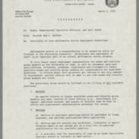 1972-03-02 Provost Ray L. Heffner to Deans, Departmental Officers, and Unit Heads Page 1