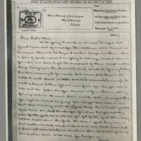 1945-03-02 John W. Graham to Mr. & Mrs. William J. Graham Page 1