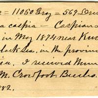 Clinton Mellen Jones, egg card # 586