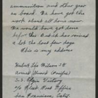 1945-02-03 Hubert Leo Wilson to Dave Elder Page 2