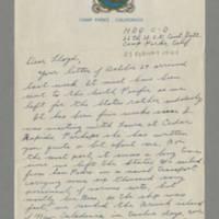 1944-02-25 Maurice Hutchison to Lloyd Davis Page 1