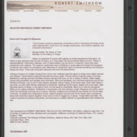 Selected Writings by Robert Smithson