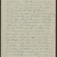 1918-08-07 Thomas Messenger to Mrs. Ress Wade Page 2