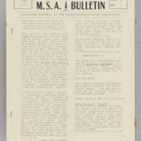 MSA Bulletin, v. 2, issue 4, May 1940