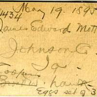 James Edward Mott, egg card # jem001
