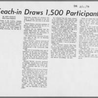 """1971-02-11 Daily Iowan Article: """"""""Teach-in Draws 1,500 Participants"""""""""""
