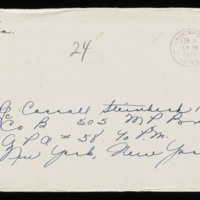 1946-02-09 Evelyn Burton to Carroll Steinbeck - Envelope