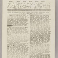 Fantasy News, v. 1, issue 8, August 14, 1938