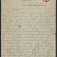 1918-04-25 Harvey Wertz to Mrs. L.A. Wertz Page 1