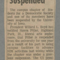 1972-06-07 Article: 'SDS, Piller Suspended' Page 1