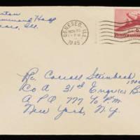 1945-11-24 Evelyn Burton to Carroll Steinbeck - Envelope