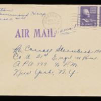 1945-10-30 Evelyn Burton to Carroll Steinbeck - Envelope