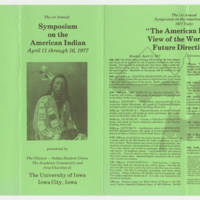 The American Indian: View of the World and Future Directions' Page 1