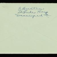 1946-04-16 Evelyn Burton to Carroll Steinbeck - Envelope back
