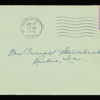 1946-04-16 Evelyn Burton to Carroll Steinbeck - Envelope