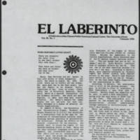 "1984-02 El Laberinto Article: """"Maria Martinez's Loving Legacy"""""
