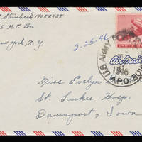 1946-02-25 Carroll Steinbeck to Evelyn Burton - Envelope