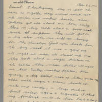 1942-11-26 Lloyd Davis to Laura Davis Page 1
