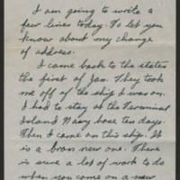 1945-02-03 Hubert Leo Wilson to Dave Elder Page 1