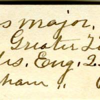 Clinton Mellen Jones, egg card # 696