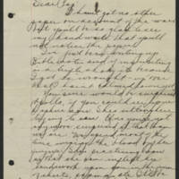Conger Reynolds to John Reynolds Page 1