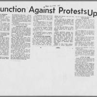"1970-09-10 Daily Iowan Article: """"Injunction Against Protests Upheld"""""