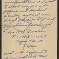 1945-03-01 Ens. D.D. Voorhees to Dave Elder Postcard