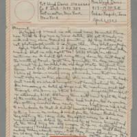 1943-04-01 Laura Davis to Lloyd Davis Page 1