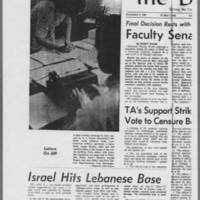 "1970-05-13 Daily Iowan Article: """"Faculty Senate Votes Anti-ROTC"""" Page 1"