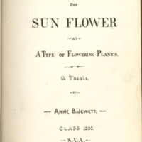 The Sun Flower as a Type of Flowering Plants by Anne B. Jewett, 1890, Page 1