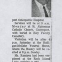 Dionisio Ramirez Obituary