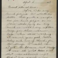 1918-04-05 Thomas Messenger to Mr. & Mrs. N.H. Messenger Page 1