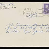 1945-09-17 Evelyn Burton to Carroll Steinbeck - Envelope