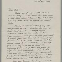 1942-10-21 Joseph Evans to John Evans Page 1