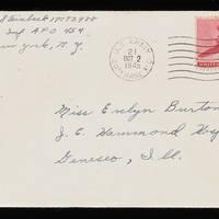 1945-10-01 Carroll Steinbeck to Evelyn Burton - Envelope