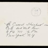 1946-01-10 Evelyn Burton to Carroll Steinbeck - Envelope