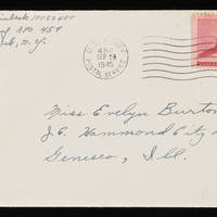 1945-09-26 Carroll Steinbeck to Evelyn Burton - Envelope