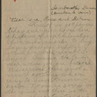 1918-12-22 Thomas Messenger to Mrs. Ress Wade Messenger Page 1