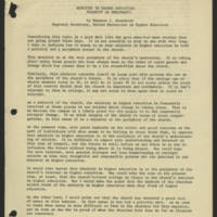 1971-01-25 Ministry In Higher Education: Priority of Periphery Page 1