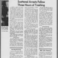 "1971-06-06 Daily Iowan Article: """"Anti-War Violence Strikes City"""" Page 3"