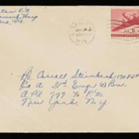 1945-11-26 Evelyn Burton to Carroll Steinbeck - Envelope