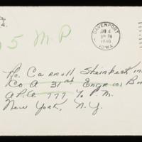 1946-01-01 Evelyn Burton to Carroll Steinbeck - Envelope