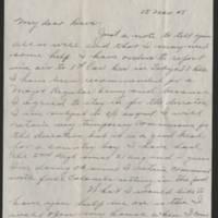 1945-11-15 Lt. Col. W.G. Eldridge to Dave Elder Page 1