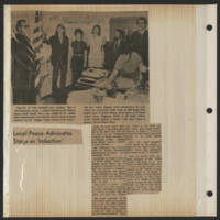 1971-09-30 Press-Citizen Article: 'Local Peace Advocates Stage 'Induction'
