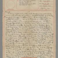 1943-04-06 Laura Davis to Lloyd Davis Page 1